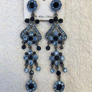 Blue two-toned chandelier earrings